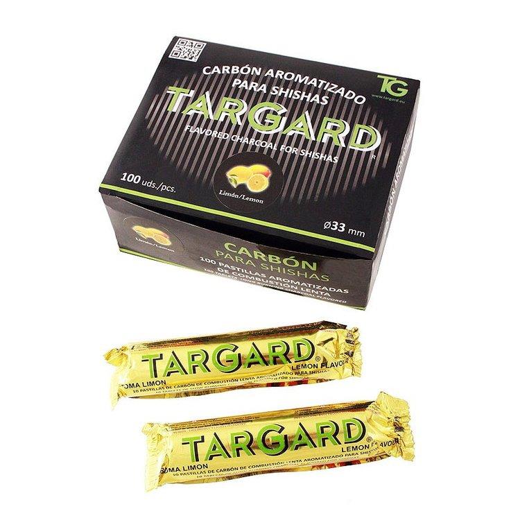 1T. Display with 10 bags of 10 charcoal sticks Ø33 mm for shisha Lemon