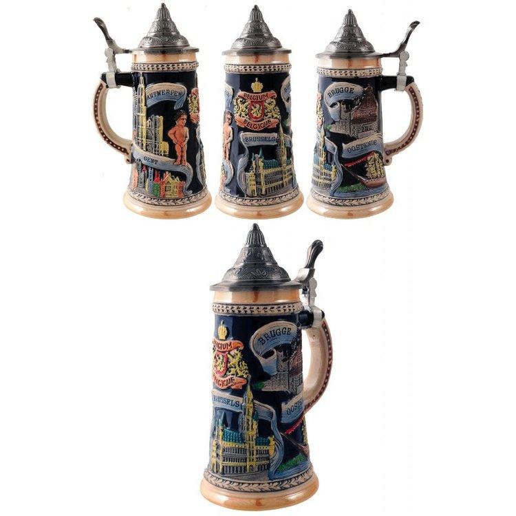 2T. Decorative beer mug 700 ml. «BELGIUM»