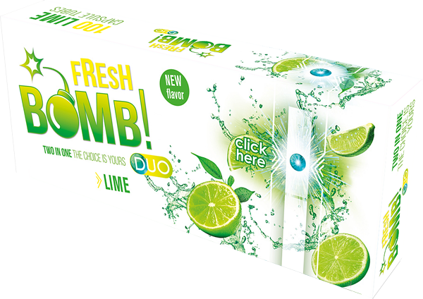 FRESH BOMB LIME CIGARETTE TUBES