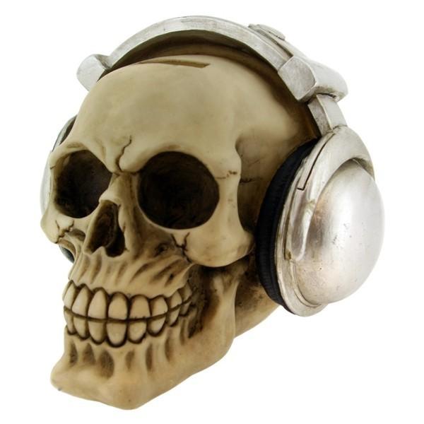 Headphone Skull Money Box 13cm