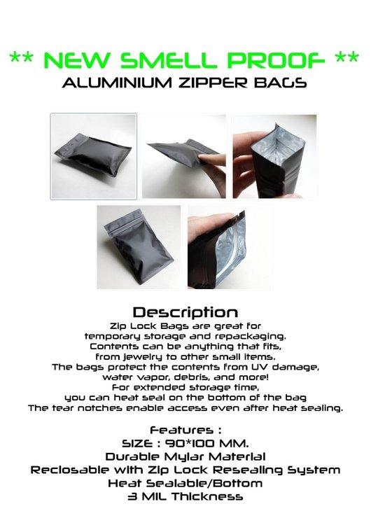 ALUMINIUM ZIPPER BAGS
