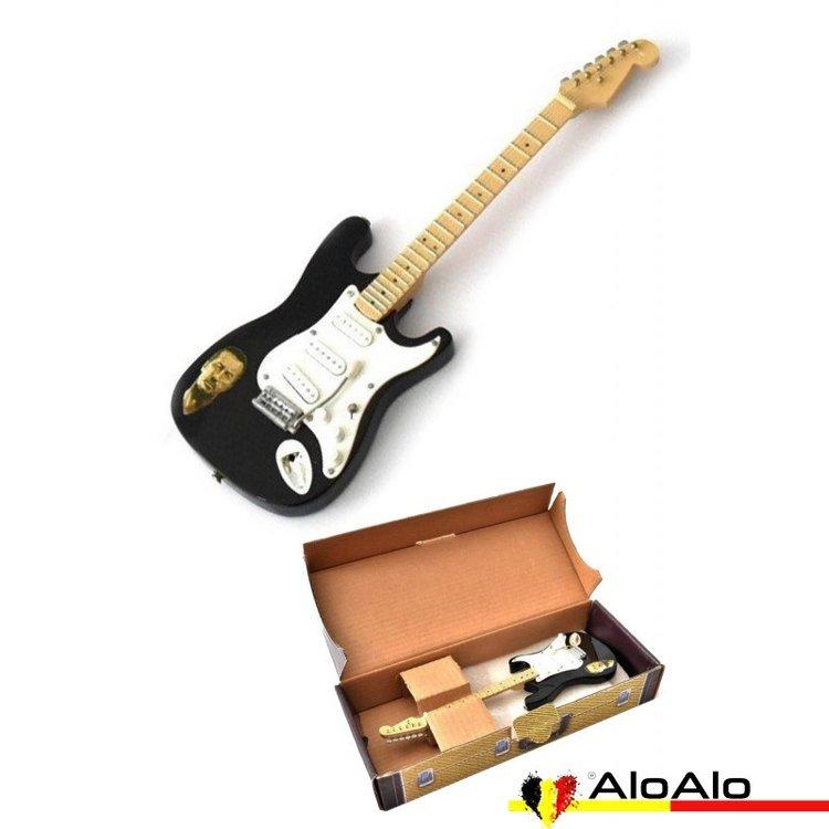 Decorative electric guitar miniature «Eric Clapton» black