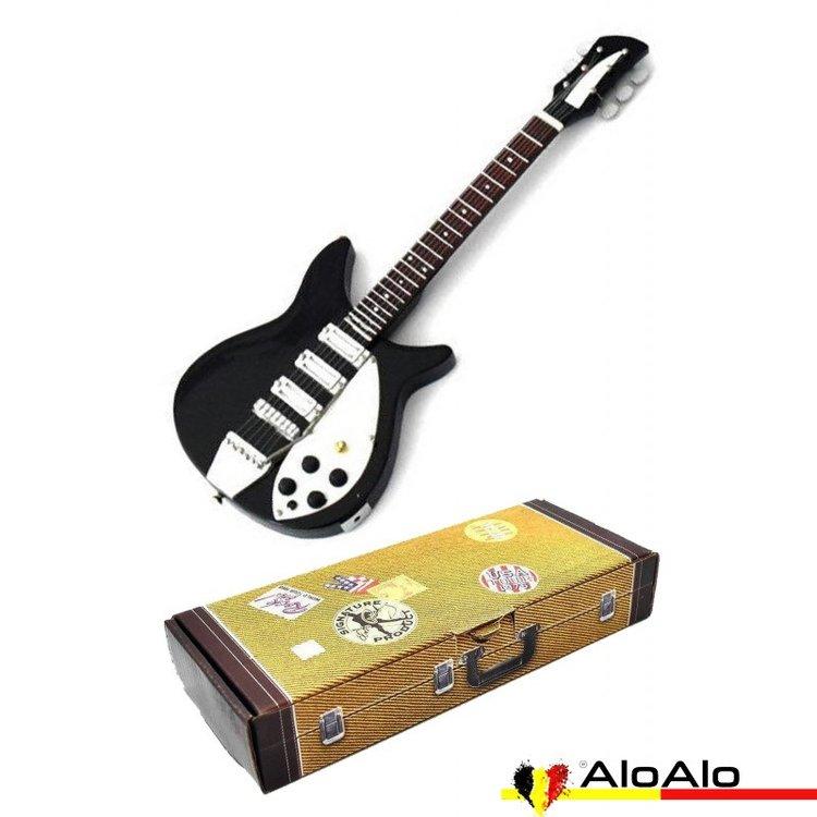 Decorative classic electric guitar miniature black/white