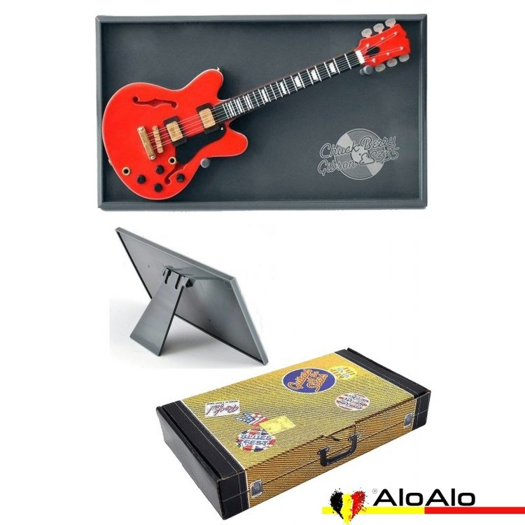 Decorative electric guitar miniature red Gibson ES335 «Chuck Berry»