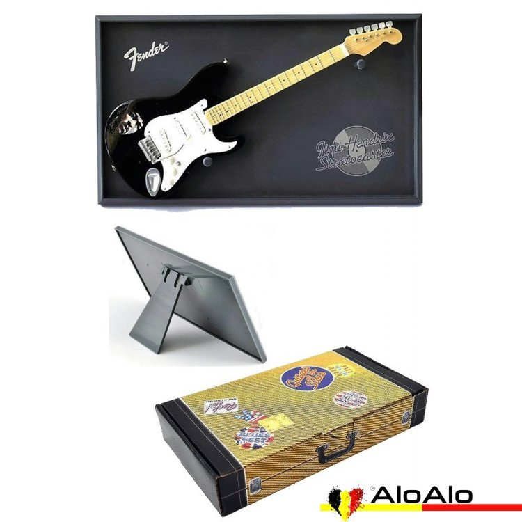Decorative electric guitar miniature black Fender «Jimi Hendrix»