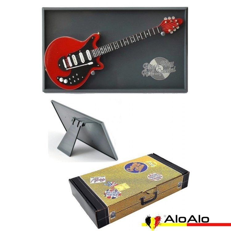 Decorative electric guitar miniature Red Special «Brian May»