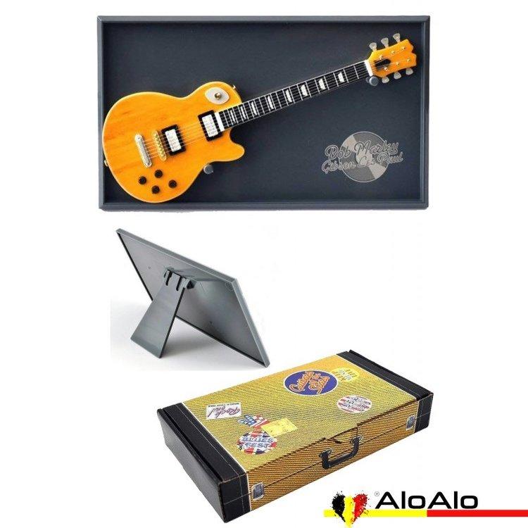 Decorative electric guitar miniature natural Gibson Les Paul «Bob Marley»