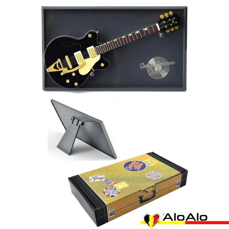 Decorative electric guitar miniature black Gretsch «George Harrison»