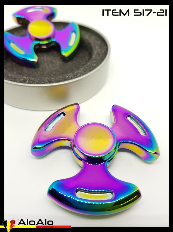Aluminium Hand Spinner Rainbow 21