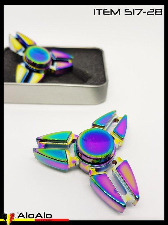 Aluminium Hand Spinner Rainbow 28
