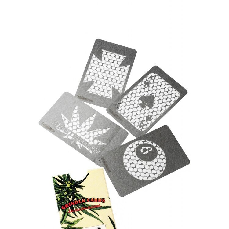 Set of 4 card grinders ass.