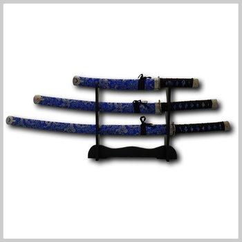 Katana zwaarden set blauw