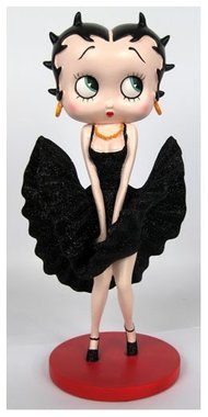 Betty Boop Cool Breeze (Blk Glitter Dress)