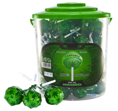 Cannabis Lollipops 100 Pcs 12Gr.