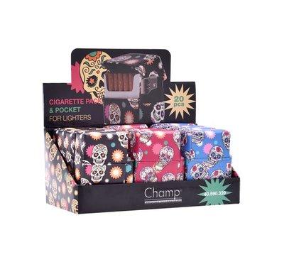 Champ mini skull cigarette pack 20 pcs + lighter