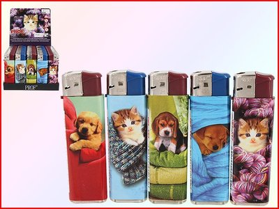 Display with 50 prof lighters LOVELY PETS design.