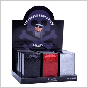 Plastic sigaretbox doodshoofd design