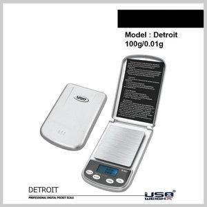 Detroit digitale weegschaal 100g -0.01g
