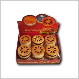 Display metalen grinders, design koekjes.