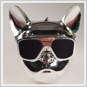 Bulldog bluetooth luidspreker Zilver.