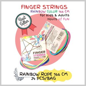 Finger string rainbow touwtjes.