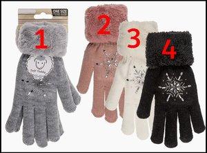 Handschoenen Soft Teddy strassen.