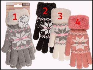 Handschoenen Soft Teddy sneeuwvlok.