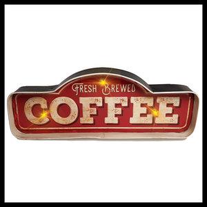 Retro metalen muurdecoratie COFFEE