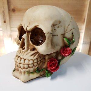 Doodshoofd skull spaarpot polystone