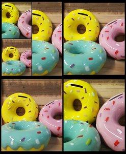 Donut spaarpot 14 cm