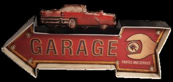 Retro metalen muurdecoratie Garage